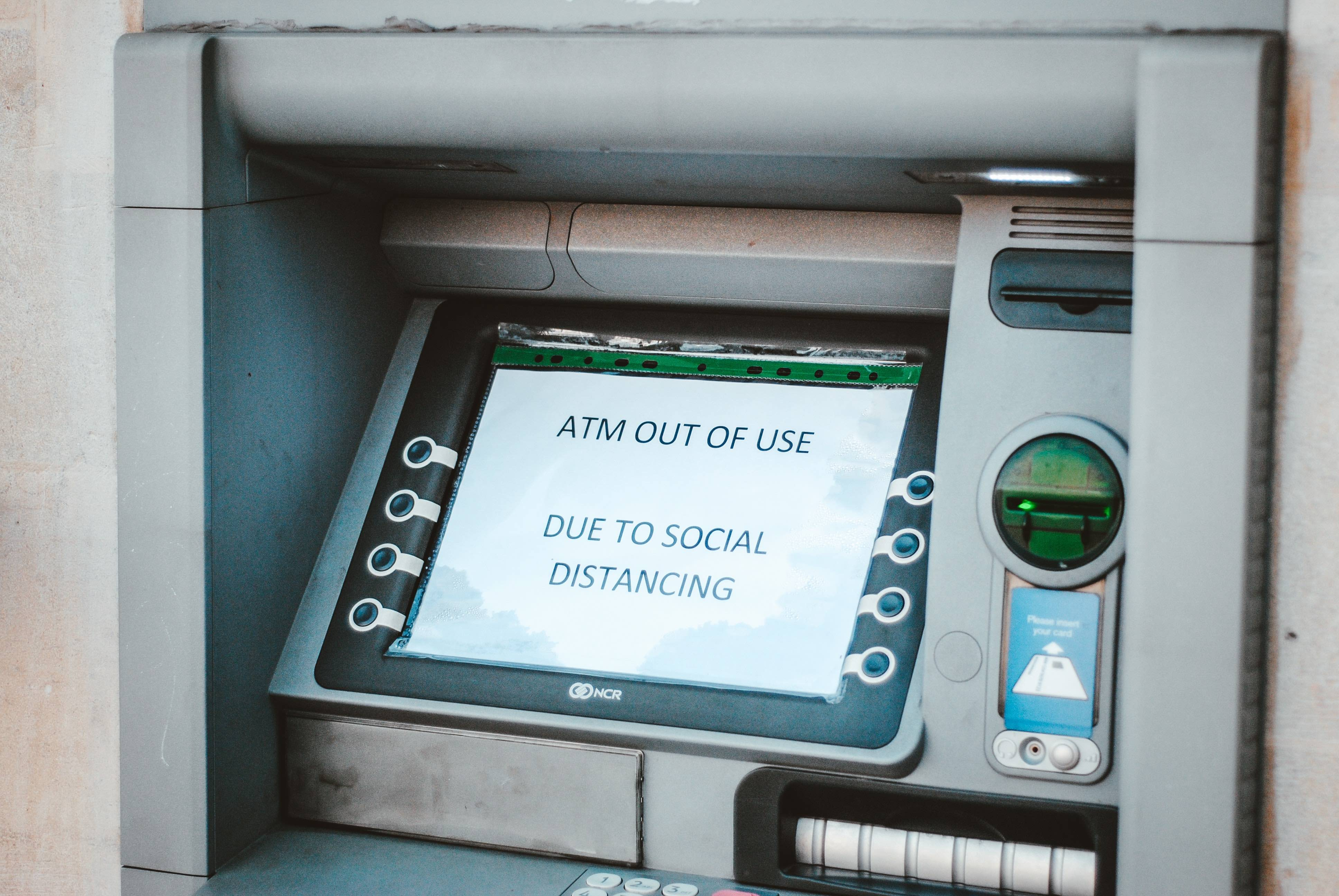 ATM out of use due to social distancing
