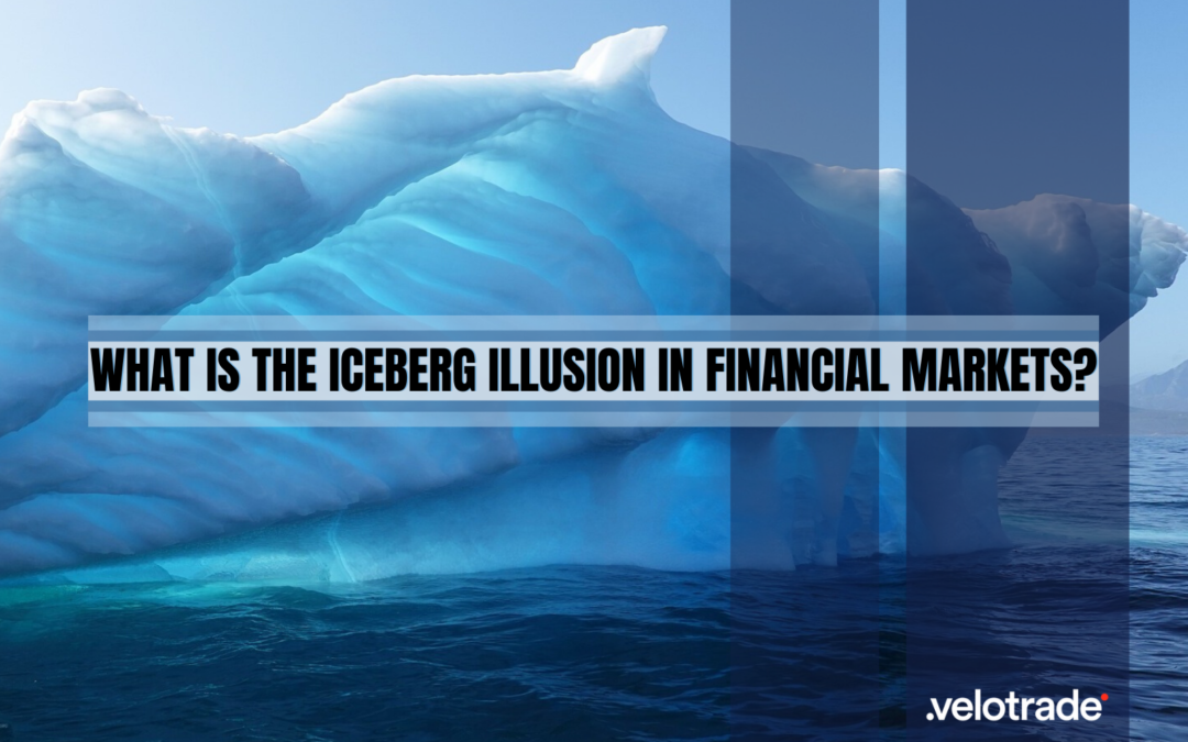 What is the iceberg illusion? The Iceberg Illusion is a deception in which only a small perceptible part of a much larger problem is visible (the tip of the Iceberg); the remaining 90% of the iceberg lies hidden under water as an ongoing threat to passing ships